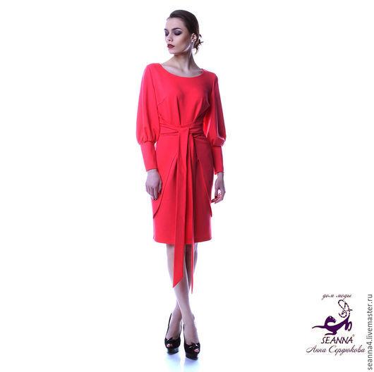 Платья ручной работы. Ярмарка Мастеров - ручная работа. Купить Платье Коралловое из плотного итальянского трикотажа в разных цветах. Handmade.