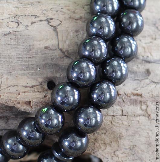Для украшений ручной работы. Ярмарка Мастеров - ручная работа. Купить Гематит 10мм(10шт). Handmade. Темно-серый, бусы, бусины