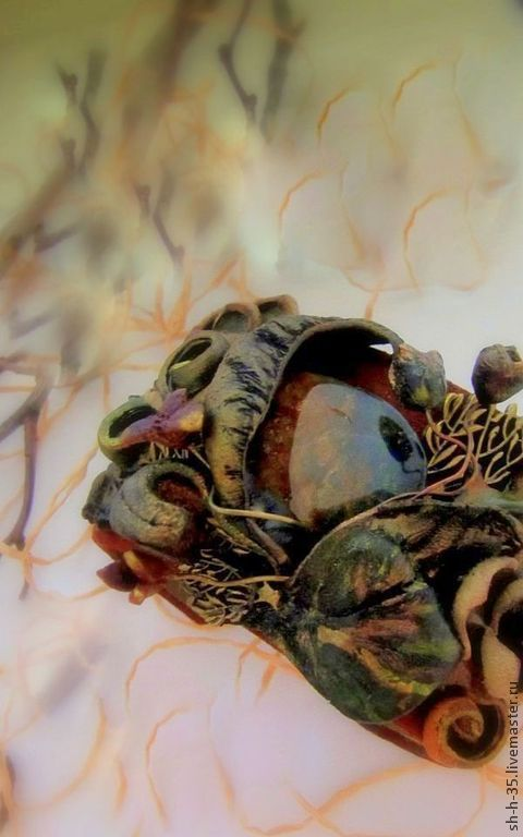 """Комплекты украшений ручной работы. Ярмарка Мастеров - ручная работа. Купить Комплект из кожи """"Там, где лягушки - царевны."""". Handmade."""