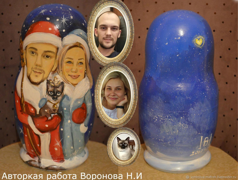 новогодние портреты, Матрешки, Москва,  Фото №1