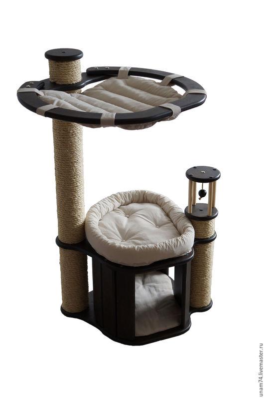 Аксессуары для кошек, ручной работы. Ярмарка Мастеров - ручная работа. Купить Домик для кошки КН-2С(Венге). Handmade. Домик для кошки