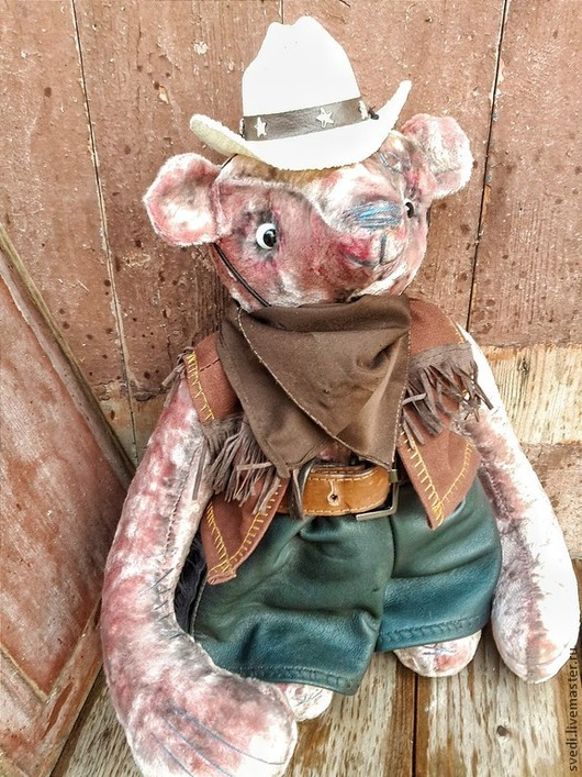 """Мишки Тедди ручной работы. Ярмарка Мастеров - ручная работа. Купить мишка тедди """" Ковбой Билл"""". Handmade. Ковбой"""