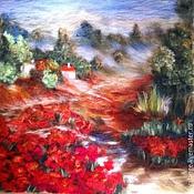 """Картины и панно ручной работы. Ярмарка Мастеров - ручная работа картина из шерсти """"Италия"""". Handmade."""
