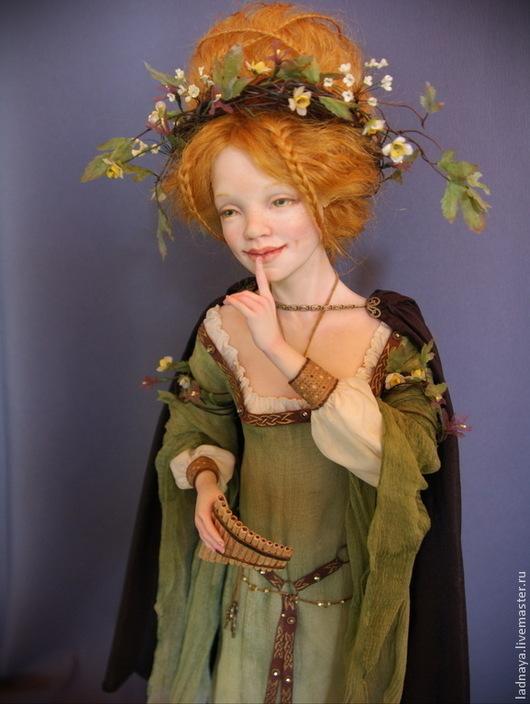 Коллекционные куклы ручной работы. Ярмарка Мастеров - ручная работа. Купить Крейдилад, кельтская богиня весны ПРОДАНА. Handmade. Зеленый