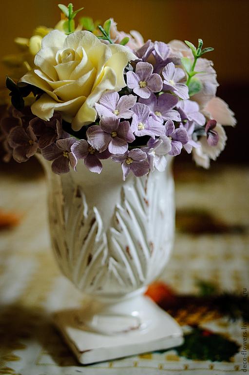 Цветы ручной работы. Ярмарка Мастеров - ручная работа. Купить Интерьерная композиция с гортензией. Handmade. Бледно-сиреневый, композиция в вазе