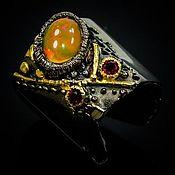 Украшения handmade. Livemaster - original item 925 silver ring with natural fire opal. Handmade.