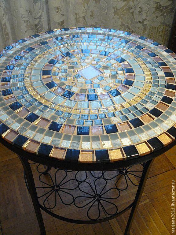 Table With Mosaic Pridivanny U0027crystal Scatteringu0027. Marjana. My Livemaster