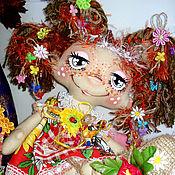 Куклы и игрушки ручной работы. Ярмарка Мастеров - ручная работа Веснушка.Текстильная кукла Домовушка  Веснушка. Интерьерная кукла.. Handmade.