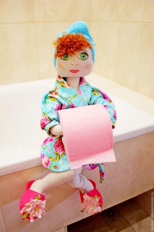 Держатели для туалетной бумаги в виде куклы своими руками