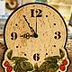 """Часы для дома ручной работы. Ярмарка Мастеров - ручная работа. Купить Часы настенные """"Малина"""". Handmade. Часы, часы из дерева"""