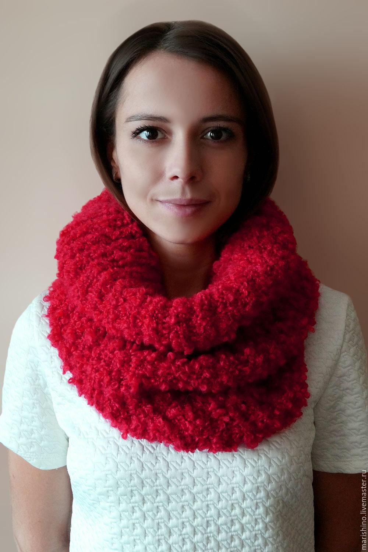 Вязание шарф букле