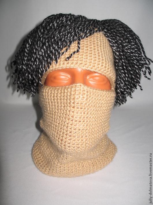 """Шапки ручной работы. Ярмарка Мастеров - ручная работа. Купить Шапка """" Волосы"""". Handmade. Бежевый, прикол, шапка для мальчика"""