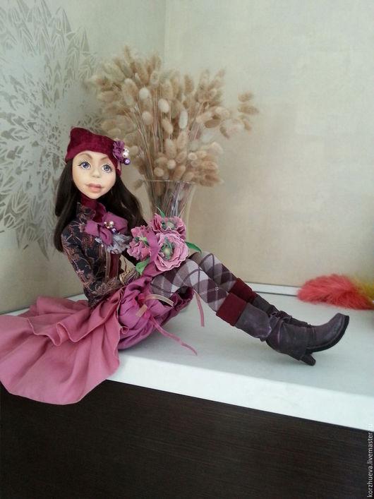 Коллекционные куклы ручной работы. Ярмарка Мастеров - ручная работа. Купить Каркасная кукла Милена. Handmade. Фуксия, искусственная кожа