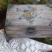 Для дома и интерьера ручной работы. Ярмарка Мастеров - ручная работа Шкатулка Полевой букет. Handmade.