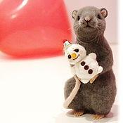 Куклы и игрушки ручной работы. Ярмарка Мастеров - ручная работа Крыса. Валяный друг.. Handmade.