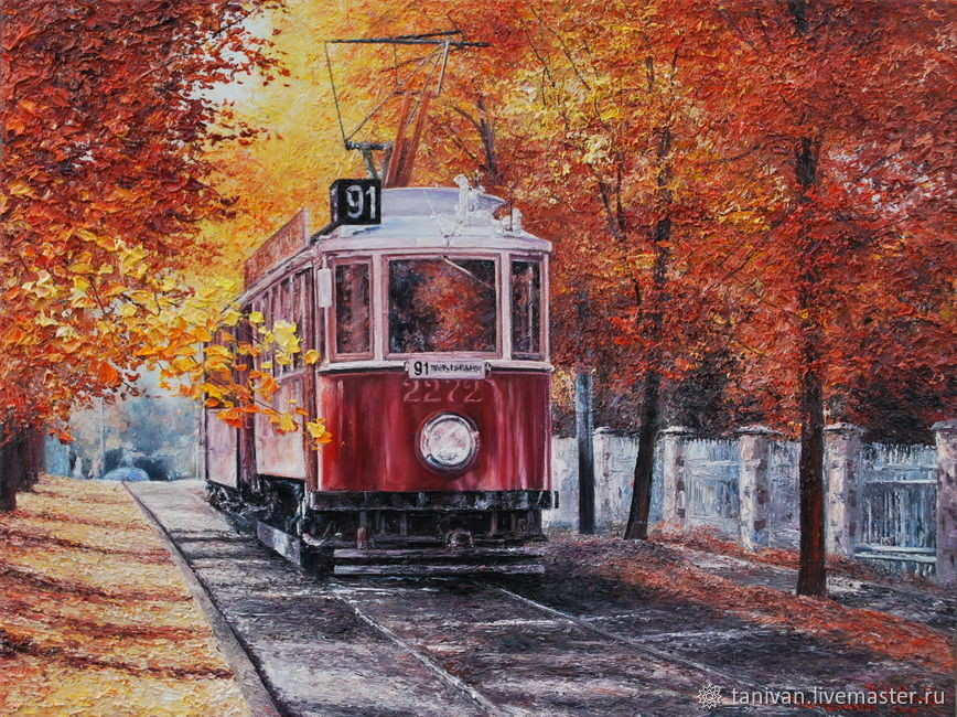 painting ' Tram', Pictures, Yelets,  Фото №1