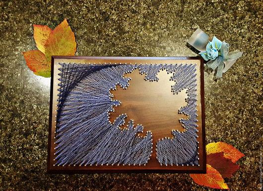 Пейзаж ручной работы. Ярмарка Мастеров - ручная работа. Купить картина ручной работы Дерево изобилия в технике стринг арт. Handmade.