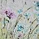 картина маслом на холсте с подрамником заказать купить пермь маткина бирюзовые голубые цветы серая картина импасто