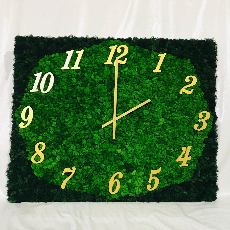Часы из стабилизированного мха, Часы классические, Белгород,  Фото №1