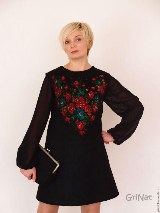 """Платья ручной работы. Ярмарка Мастеров - ручная работа. Купить Платье """"Лара"""". Handmade. Черный, платье оригинальное"""