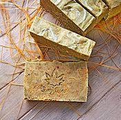 Косметика ручной работы. Ярмарка Мастеров - ручная работа Луговые травы  натуральное мыло с люфой. Handmade.