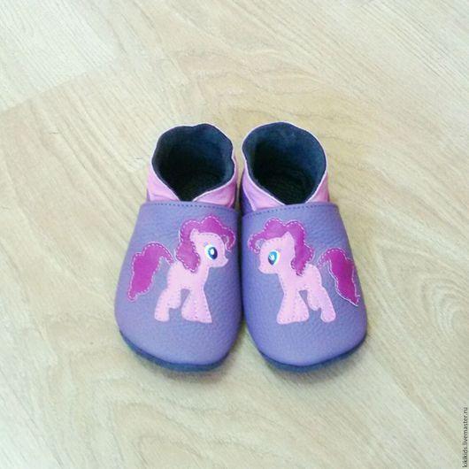 Детская обувь ручной работы. Ярмарка Мастеров - ручная работа. Купить Пинетки, чешки, мокасины Пинки пай. Handmade. мокасины