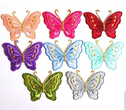 апликации `Бабочки крупные ` термо