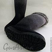 """Обувь ручной работы. Ярмарка Мастеров - ручная работа Сапожки валяные по мотивам """"Морозный вечер"""". Handmade."""