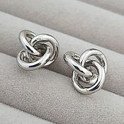 Материалы для творчества handmade. Livemaster - original item Earrings studs 13h13 mm platinum (3650). Handmade.