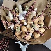 Букеты ручной работы. Ярмарка Мастеров - ручная работа Букет из орехов  №2. Handmade.