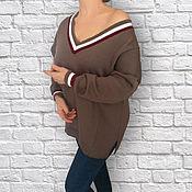 Одежда ручной работы. Ярмарка Мастеров - ручная работа Пуловер со спущенным рукавом. Handmade.