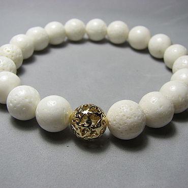 Decorations handmade. Livemaster - original item Bracelet with spongy coral