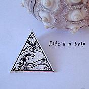"""Украшения ручной работы. Ярмарка Мастеров - ручная работа Кулон """"Life`s a trip"""". Handmade."""