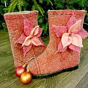 """Обувь ручной работы. Ярмарка Мастеров - ручная работа Валенки """"Рождество"""". Handmade."""