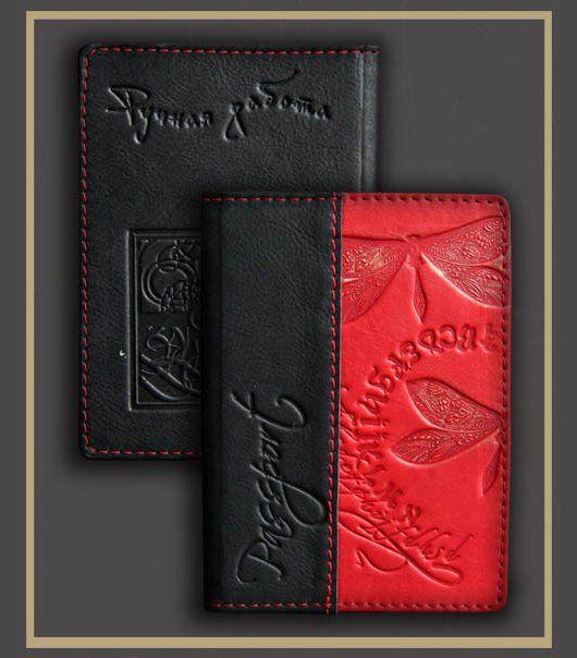 Кошельки и визитницы ручной работы. Ярмарка Мастеров - ручная работа. Купить обложка на паспорт (5407) натуральная кожа. Handmade. Комбинированный
