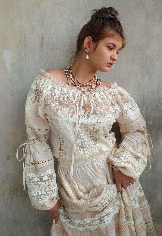Dress wedding cotton boho Odette Cream, Dresses, Tashkent,  Фото №1