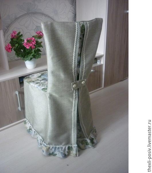Текстиль, ковры ручной работы. Ярмарка Мастеров - ручная работа. Купить Чехол на стул. Handmade. Серый, тесьма для декора