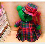 Мягкие игрушки ручной работы. Ярмарка Мастеров - ручная работа Мишка в шляпке с бантом. Handmade.