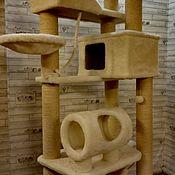 Когтеточки ручной работы. Ярмарка Мастеров - ручная работа Большой комплекс с сизалевой обмоткой номер 149. Handmade.