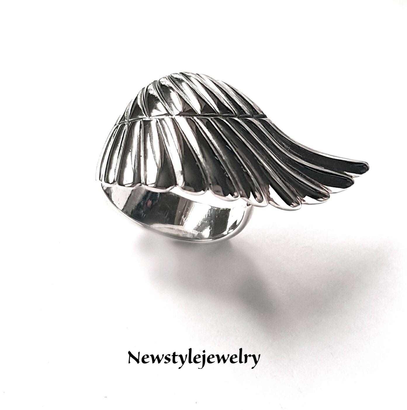 """Кольца ручной работы. Ярмарка Мастеров - ручная работа. Купить Кольцо из серебра """"Крылья"""". Handmade. Серый, широкое кольцо"""