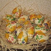 "Яйца ручной работы. Ярмарка Мастеров - ручная работа Пасхальные яйца ""Цыплята"". Handmade."
