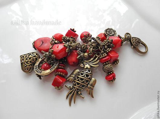 Брелок для ключей, украшение на сумку Попугай Кеша брелок на сумку, брелок для сумки, брелок для ключей, брелок на ключи, ярко-красный, брелок на джинсы, брелки, брелок в подарок, брелок на авто, бре