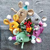 Мягкие игрушки ручной работы. Ярмарка Мастеров - ручная работа Новогодний сувенир: Мышка-игрушка. Handmade.