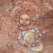 Картины и панно ручной работы. Ярмарка Мастеров - ручная работа Я знаю нужное Слово... Сказочная вечерняя картина. Маленькая фея.. Handmade.