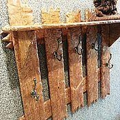 Для дома и интерьера ручной работы. Ярмарка Мастеров - ручная работа Вешалка настенная из массива дерева. Handmade.