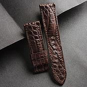 Украшения handmade. Livemaster - original item Crocodile Leather Watchband (09). Handmade.