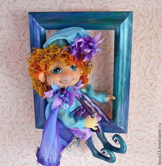 Сказочные персонажи ручной работы. Ярмарка Мастеров - ручная работа. Купить Текстильная кукла Фей Аквамарин. Handmade. Морская волна
