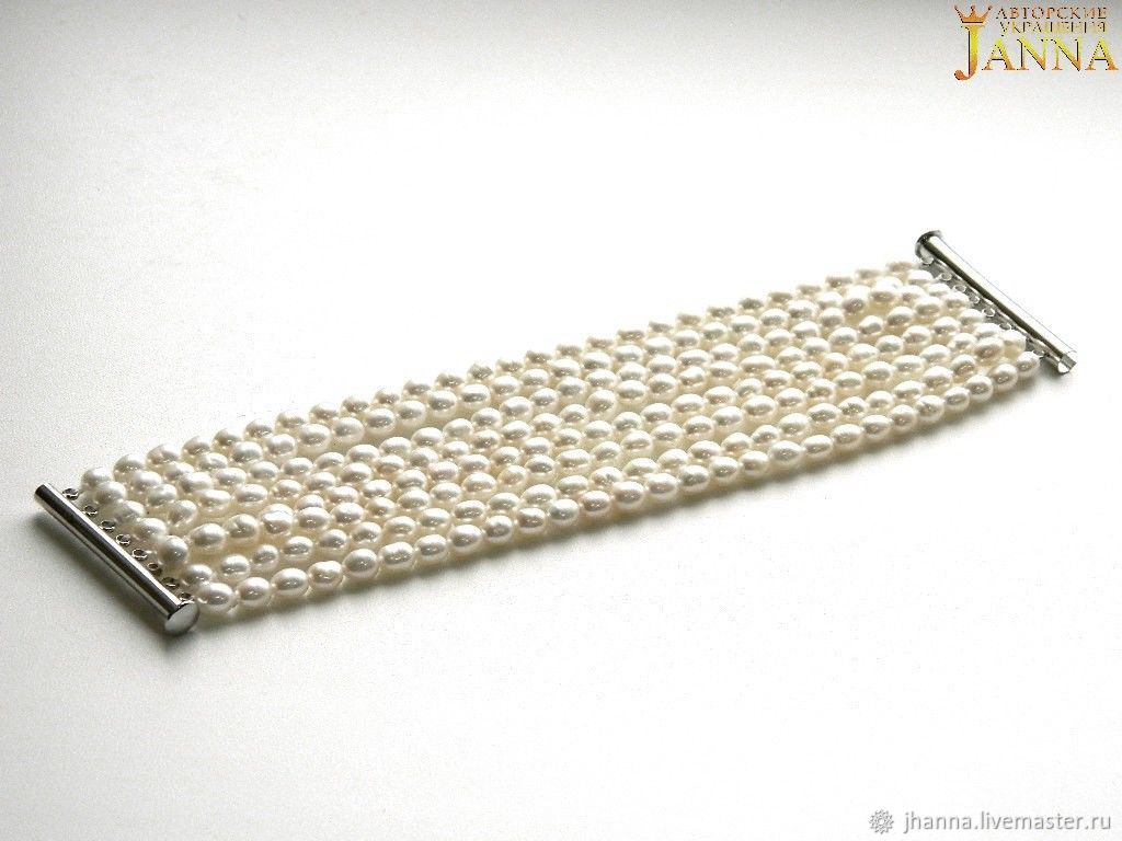 Pearl. ' The rates' a lush bracelet of freshwater pearls, Bracelets, Volgograd,  Фото №1