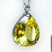 Украшения handmade. Livemaster - original item Pendant on a chain with collectible citrine. 925 sterling silver PR. Handmade.