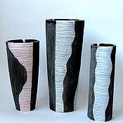 Для дома и интерьера ручной работы. Ярмарка Мастеров - ручная работа Вазы в полоску. Handmade.